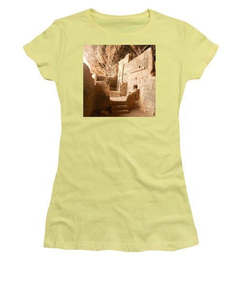 Women's T-Shirt (Junior Cut) featuring the photograph Living In The Rocks by Kerri Mortenson