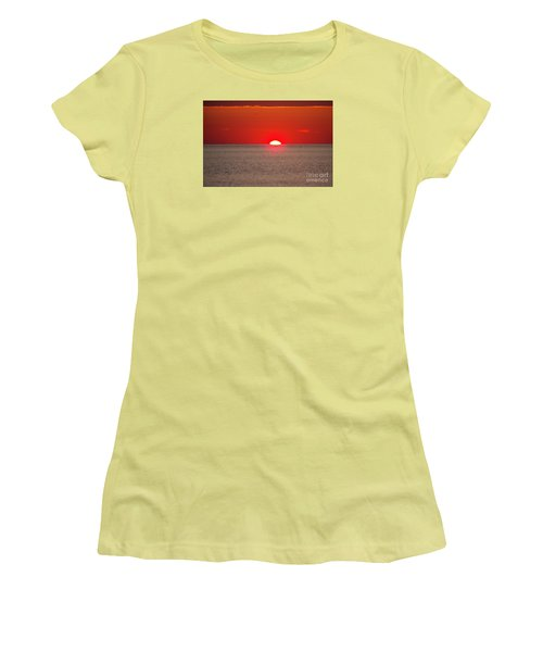 Lobster Pots Dance In The Sea  At Sunrise Women's T-Shirt (Junior Cut) by Eunice Miller