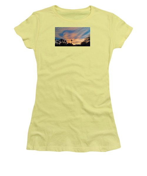 Lone Sentry Morning Sky Women's T-Shirt (Junior Cut) by Jay Milo
