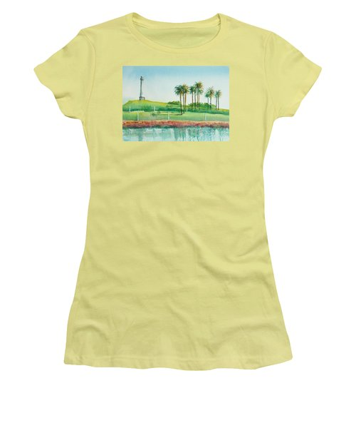Long Beach Lighthouse Women's T-Shirt (Athletic Fit)