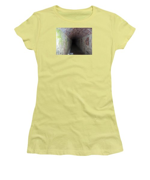 long tunnel in Ft Adams Women's T-Shirt (Junior Cut) by Catherine Gagne