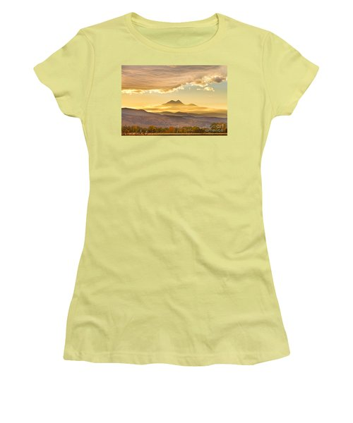 Longs Peak Autumn Sunset Women's T-Shirt (Junior Cut)