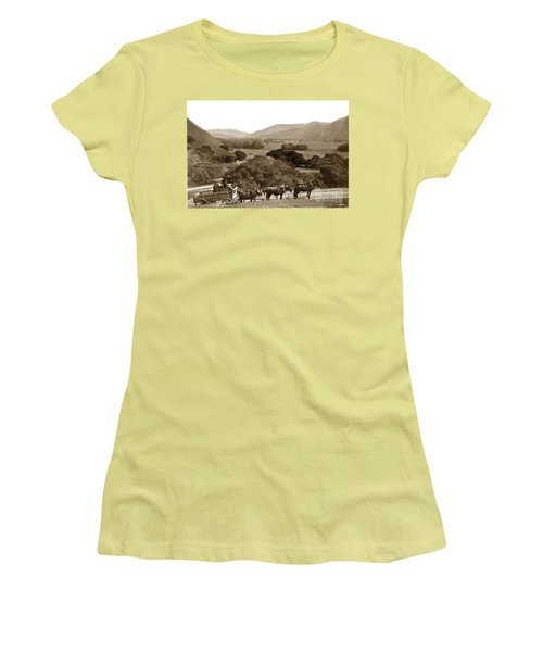 Looking Up The Carmel Valley California Circa 1880 Women's T-Shirt (Athletic Fit)