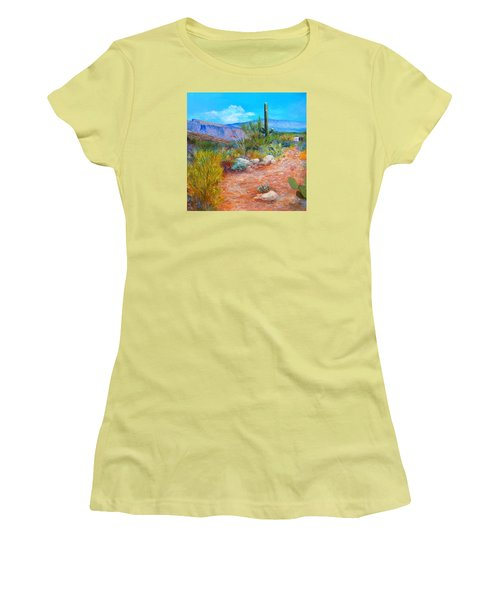 Women's T-Shirt (Junior Cut) featuring the painting Lot For Sale 2 by M Diane Bonaparte