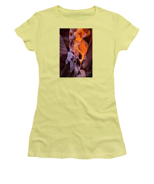 Lower Antelope Glow Women's T-Shirt (Junior Cut) by Jerry Fornarotto