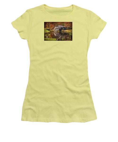 Mabry Mill Women's T-Shirt (Athletic Fit)