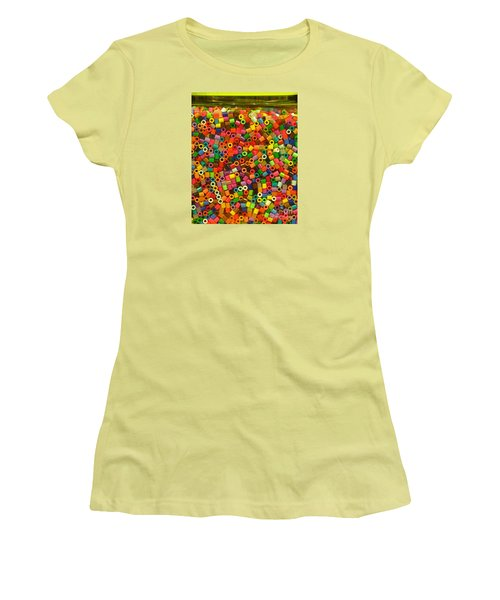 Macaroni Beads Women's T-Shirt (Junior Cut) by Ranjini Kandasamy