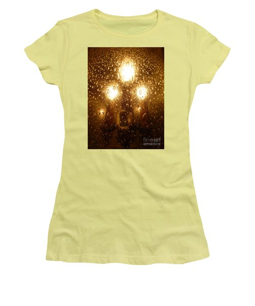 Macro Lights Women's T-Shirt (Junior Cut) by Joseph Baril