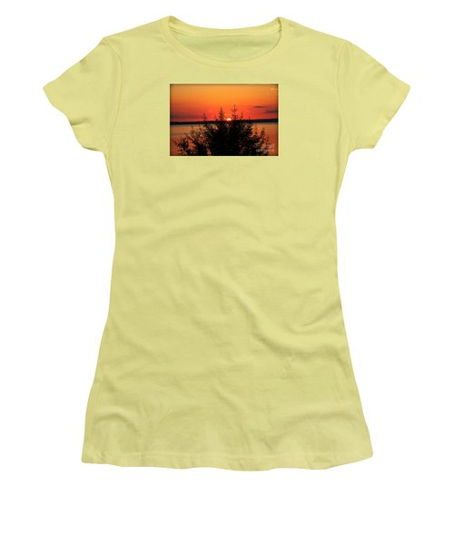 Women's T-Shirt (Junior Cut) featuring the photograph Magic At Sunset by Ella Kaye Dickey