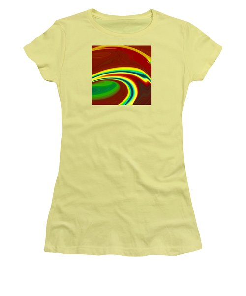 Women's T-Shirt (Junior Cut) featuring the painting Magma  C2014 by Paul Ashby
