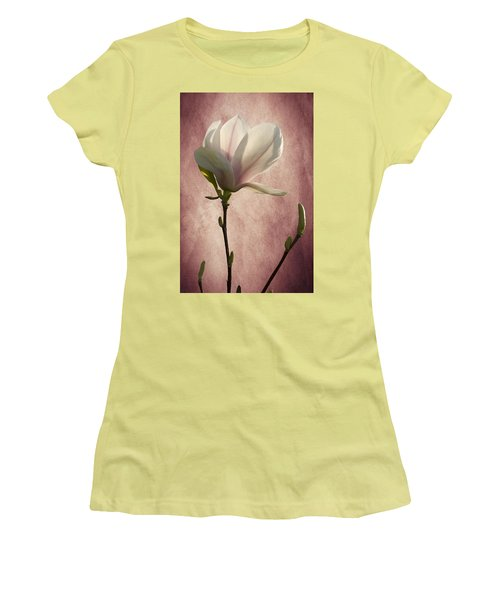 Women's T-Shirt (Junior Cut) featuring the photograph Magnolia by Ann Lauwers