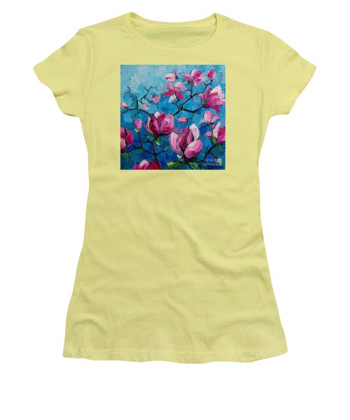 Magnolias For Ever Women's T-Shirt (Athletic Fit)