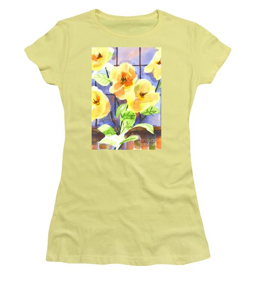 Women's T-Shirt (Junior Cut) featuring the painting Magnolias by Kip DeVore