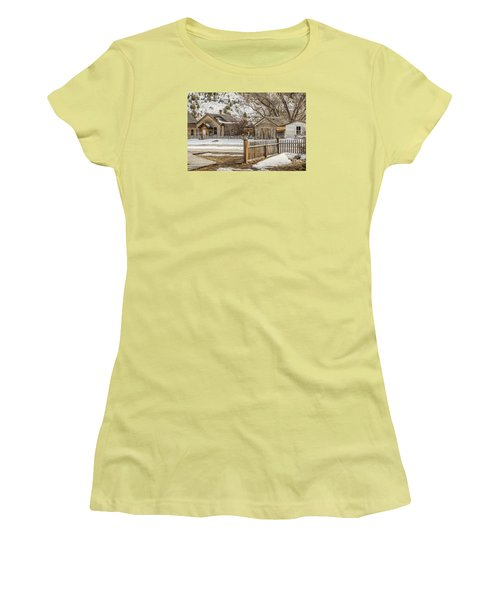 Women's T-Shirt (Athletic Fit) featuring the photograph Main Street by Sue Smith