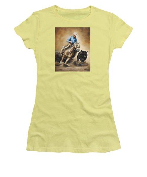 Making The Cut Women's T-Shirt (Junior Cut) by Kim Lockman