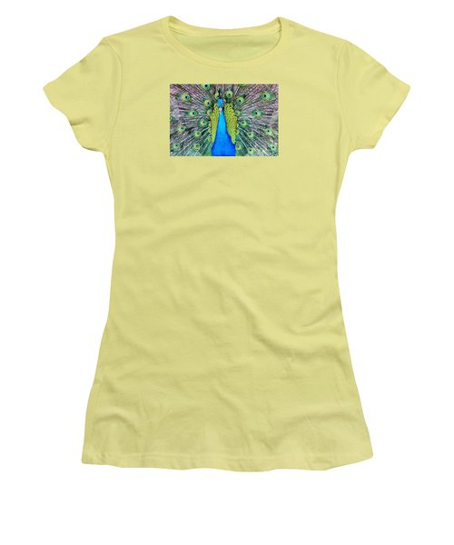 Male Peacock Women's T-Shirt (Athletic Fit)