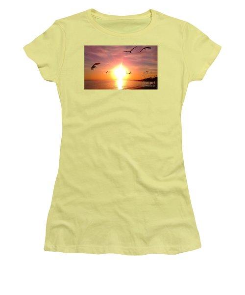 Malibu Paradise Women's T-Shirt (Junior Cut) by Chris Tarpening