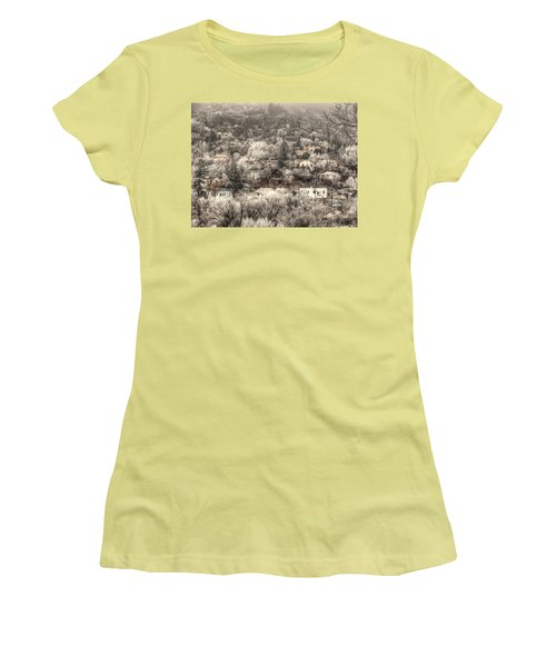 Manitou To The South In Snow Close Up Women's T-Shirt (Junior Cut) by Lanita Williams