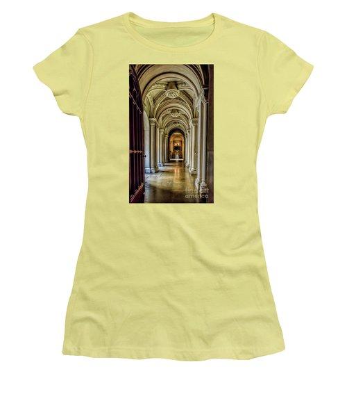 Mansion Hallway Women's T-Shirt (Junior Cut) by Adrian Evans