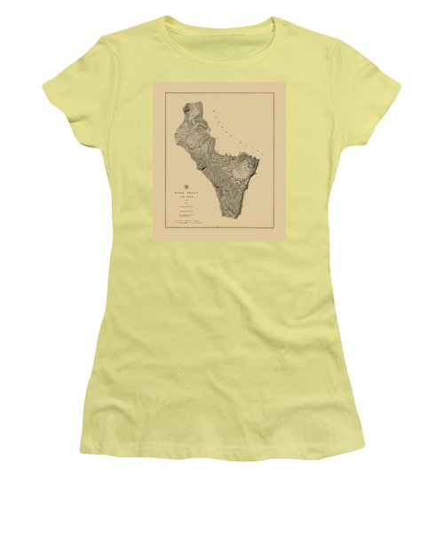 Map Of West Point 1883 Women's T-Shirt (Athletic Fit)