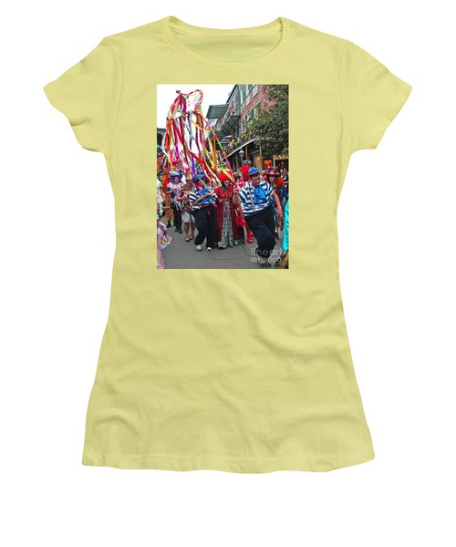 Women's T-Shirt (Junior Cut) featuring the photograph Mardi Gras In New Orleans by Luana K Perez