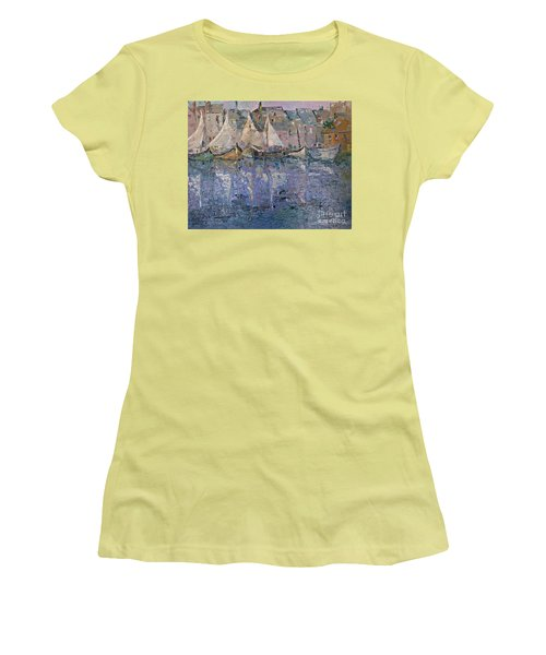Women's T-Shirt (Junior Cut) featuring the painting Marina by AmaS Art