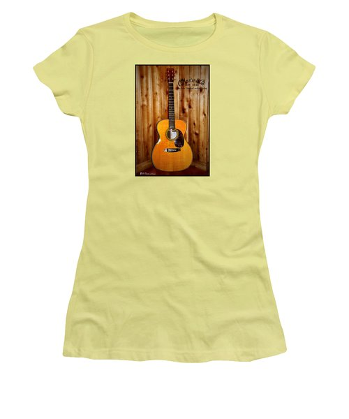 Martin Guitar - The Eric Clapton Limited Edition Women's T-Shirt (Junior Cut) by Bill Cannon