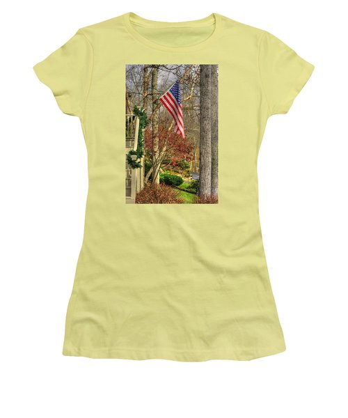 Maryland Country Roads - Flying The Colors 1a Women's T-Shirt (Junior Cut) by Michael Mazaika
