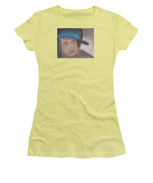 Women's T-Shirt (Junior Cut) featuring the pastel Master Guy by David Jackson