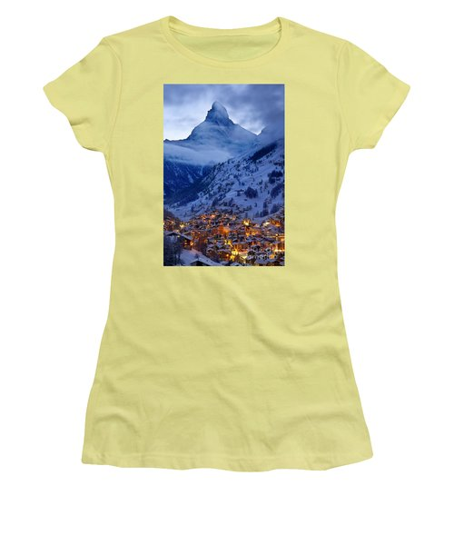 Matterhorn At Twilight Women's T-Shirt (Athletic Fit)