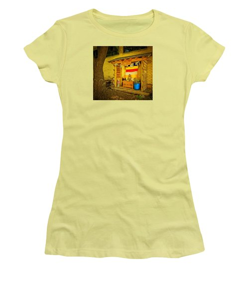 May All Beings Be Free From Suffering Women's T-Shirt (Junior Cut) by MJ Olsen