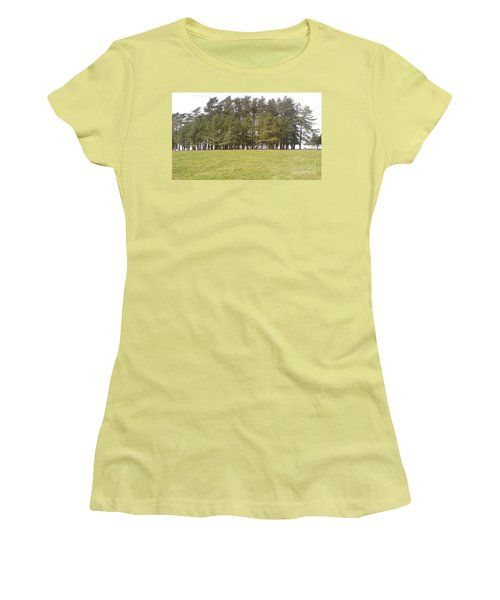 May Hill Tree Tops Women's T-Shirt (Junior Cut) by John Williams