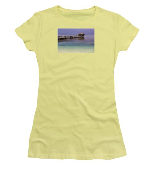 Maya Key Pier At Roatan Women's T-Shirt (Junior Cut) by Suzanne Luft