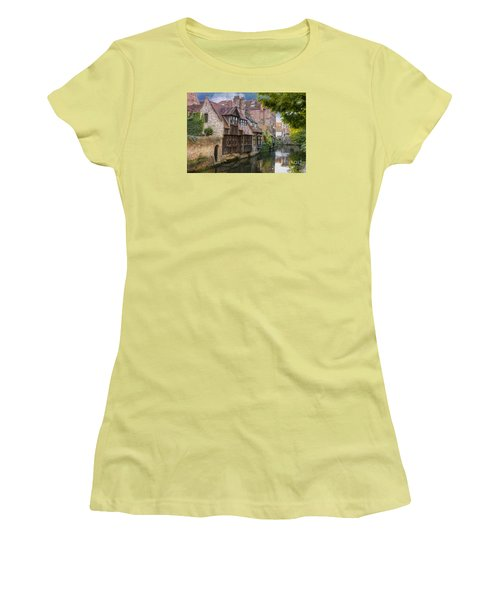 Medieval Bruges Women's T-Shirt (Junior Cut) by Juli Scalzi