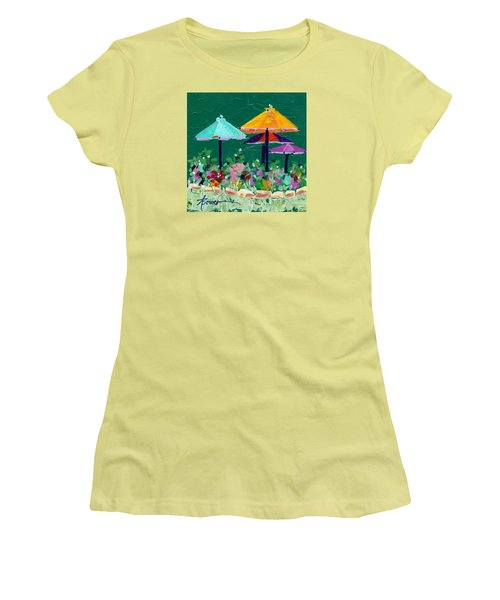 Meet Me At The Cafe Women's T-Shirt (Athletic Fit)