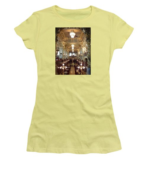 Meet Me For Coffee - New York Cafe - Budapest Women's T-Shirt (Junior Cut) by Lucinda Walter