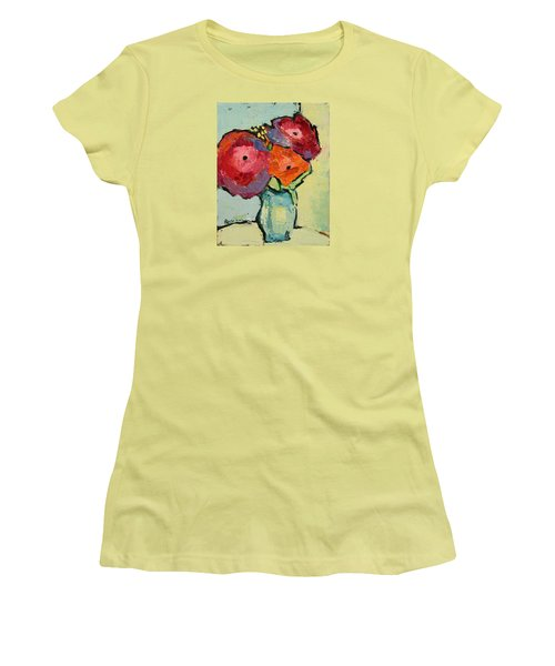 Women's T-Shirt (Junior Cut) featuring the painting Melody Of Love by Becky Kim