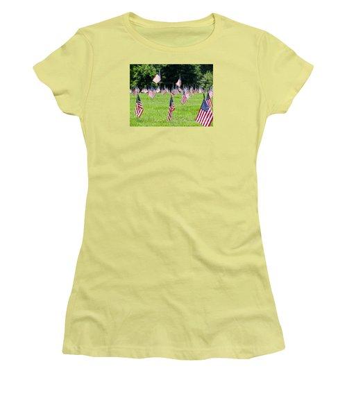 Women's T-Shirt (Junior Cut) featuring the photograph Memorial Day by Ed Weidman