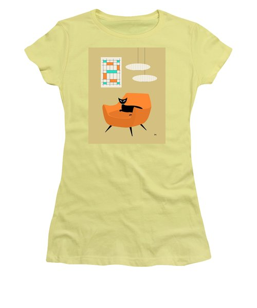 Mini Abstract With Orange Chair Women's T-Shirt (Athletic Fit)