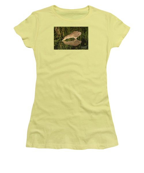 Women's T-Shirt (Junior Cut) featuring the photograph Mirror Mirror On The Wall Who Is The Fairest Heron Of All by Heather King