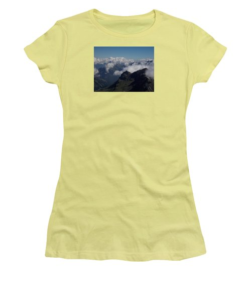 Mist From The Schilthorn Women's T-Shirt (Athletic Fit)