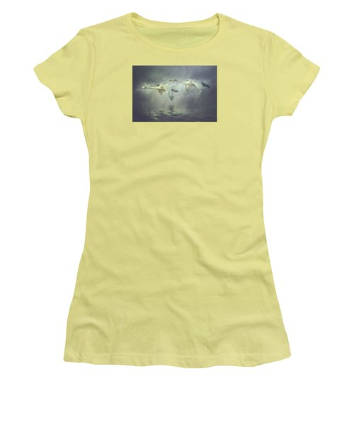 Misty Moon Shadows Women's T-Shirt (Athletic Fit)