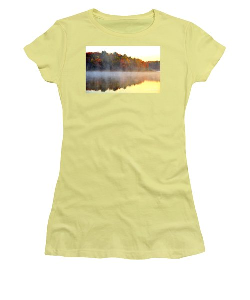 Misty Morning At Stoneledge Lake Women's T-Shirt (Athletic Fit)