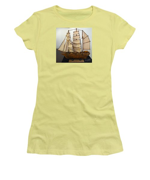 Model Sailing Ship Women's T-Shirt (Athletic Fit)