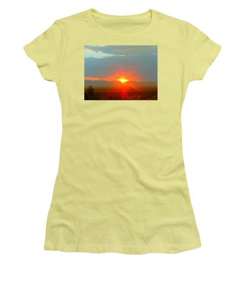 Mohave Sunset In Golden Valley Women's T-Shirt (Athletic Fit)