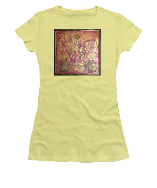 Monarch Butterfly By Alfredo Garcia Women's T-Shirt (Athletic Fit)
