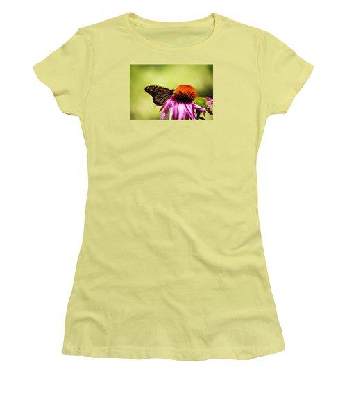 Monarch Glow Women's T-Shirt (Junior Cut) by Shelly Gunderson