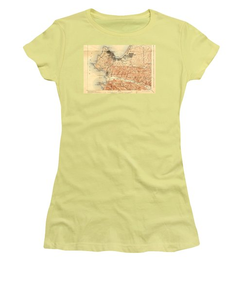 Monterey And Carmel Valley  Monterey Peninsula California  1912 Women's T-Shirt (Athletic Fit)