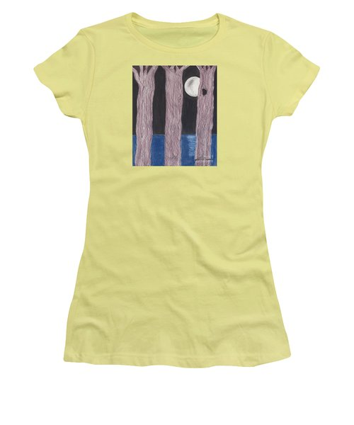 Women's T-Shirt (Junior Cut) featuring the mixed media Moon Light by David Jackson