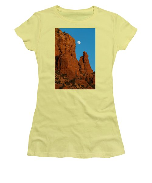 Moon Over Chicken Point Women's T-Shirt (Athletic Fit)
